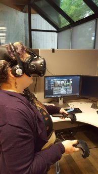 Jen Shook uses VRChat to be immersed in a medieval Italian church.