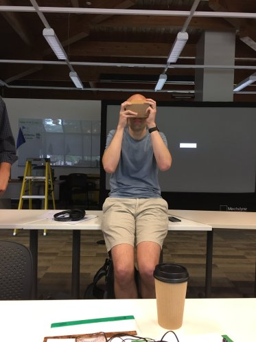 Experimenting with the Google Cardboard.